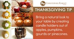 Thanksgiving Tip: Organic Candle Holders