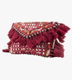Maroon Cotton Embroidered Sling Bag #embroidery #clutches #slingbags #cotton