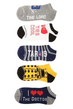 Doctor Who No-Show Socks 5 Pair from Hot Topic. Shop more products from Hot Topic on Wanelo. Grunge Style, Soft Grunge, Style Indie, My Style, The Doctor, Doctor Who, Tokyo Street Fashion, Le Happy, Dr Who