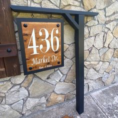 Address Signs For Yard, House Address Sign, Outdoor Projects, Home Projects, Outdoor Decor, Farm Entrance, Property Signs, Silverpoint, Farm Signs