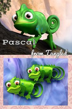 Don't go to Disney without Pascal! Pascal Hair Clip from Cutey Clips Hair Accessories www.etsy.com/shop/christinaland128
