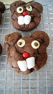 Groundhog Cookies-- Hayden had so much fun making these last year!