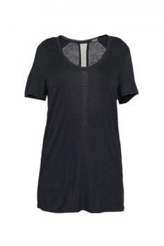 T.Babaton Hush T-Shirt. Silk trim.