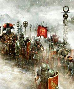 Winter Campaign under Germanicus. Rome History, Ancient History, Medieval Combat, Benfica Wallpaper, Rome Antique, Roman Warriors, Roman Legion, Templer, Roman Soldiers