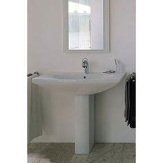 "Duravit D11005 Caro 27 1/2"" Single Hole Washbasin with Pedestal D11005"
