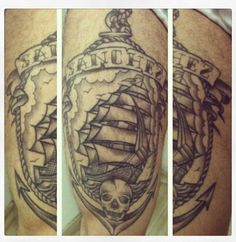 Old School Tattoo Ship Anchor