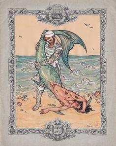 Sailor and Merman Art Print