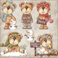 Cozy Bears 1 Clip Art Set