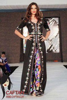 Robe caftan noir élégance 2015