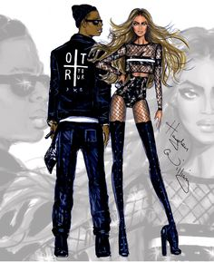 #Hayden Williams Fashion Illustrations #J x B On The Run Tour by Hayden Williams