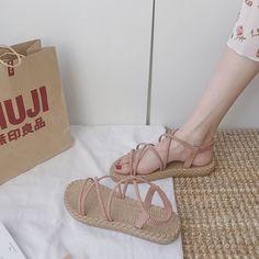 Korean Sandals, Korean Shoes, Girls Formal Shoes, Girls Shoes, White Sneakers Nike, Sneakers Fashion, Fashion Shoes, Minimalist Shoes, Aesthetic Shoes
