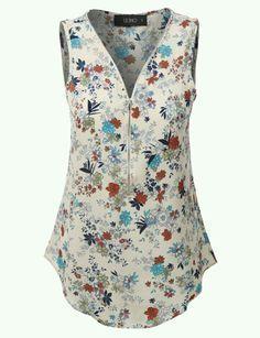 Risultati immagini per sewing tutorials for ladies blouse blusa de gasa Mode Plus, Blouse Designs, Blouses For Women, Fashion Dresses, Womens Fashion, How To Wear, Print Chiffon, Clothes, Sewing Tutorials
