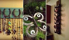 30 Creative DIY Ideas For Rustic Tree Branch Chandeliers Horseshoe Wreath, Horseshoe Crafts, Lucky Horseshoe, Horseshoe Art, Easy Crochet Projects, Craft Projects, Ranch Style Decor, Vintage Shabby Chic, The Ranch