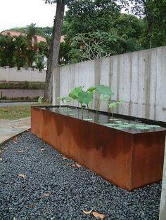 mies and carrots.: Modern Metal Ponds