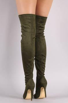 6ce46a90280 Liliana Suede Pointy Toe Stiletto Over-The-Knee Boots