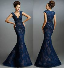 Applique Sexy Long Mermaid Prom Dresses Formal Party Evening dress Ball Gown ++