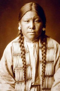 This is Buffalo Calf Road Woman, the Cheyenne woman who struck the blow that knocked Custer (also known as the coward Wanker Custerson of the United States of Colonize the Shit Out of America) off his horse before he was killed at the Battle of Little Big Horn.    She was also instrumental in securing victory for the Sioux and Cheyenne at the Battle of Rosebud, a battle known among the Cheyenne as 'the battle where the brave sister saved her brother'.