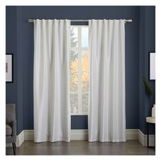 """West Elm Greenwich Curtain + Blackout Panel, Ivory, 48""""x96"""" - Drapes -... ($75) ❤ liked on Polyvore featuring home, home decor, window treatments, curtains, black out window curtains, beige blackout curtains, window curtain panels, cream blackout curtains and rod pocket window panel"""