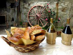 Focaccia con l'uva - Focaccia bread with grapes