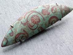Enamel brooch in sterling silver copper and by AnnaClarkStudio