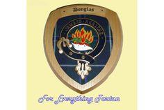 Clan Douglas Tartan Woodcarver Wooden Wall Plaque Douglas Crest 7 x 8