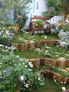 Garden Paving, Garden Steps, Small Cottage Garden Ideas, Home And Garden, Amazing Gardens, Beautiful Gardens, Sloped Garden, Room With Plants, Garden Junk