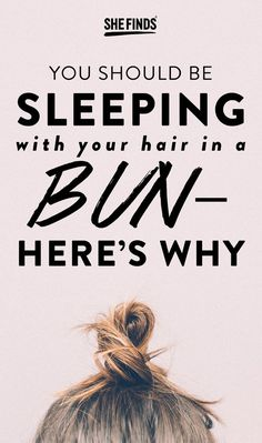You Should Be Sleeping With Your Hair In A Bun. A little while ago I read that it's best to sleep in a bun and I was instantly brought back to my middle school days. Here's the reason why. Sleep Hairstyles, Night Hairstyles, Curled Hairstyles, Easy Mom Hairstyles, Middle School Hairstyles, Lazy Girl Hairstyles, Layered Hairstyles, Damp Hair Styles, Medium Hair Styles