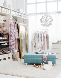 light & airy dressing room