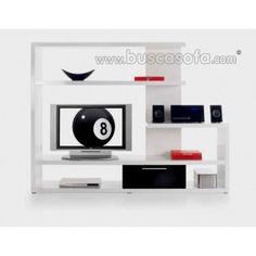 $500 / 379€ ~OFERTA~ Colección DADO BRILLO mueble comedor TV en acabado lacado brillo blanco. Disponible con cajon en blanco, rojo, negro y gris. Las medidas son:205x41 cm. y 157 cm. de altura.