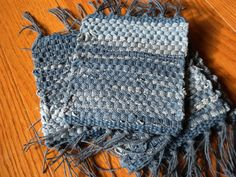 Handwoven Coasters in Upcycled Denim
