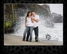 San Diego engagement photos at La Jolla beach.