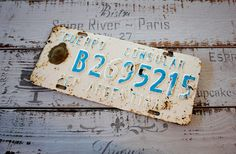 Antique Metal License Plate DIPLOMATIC NUMBER PLATES by 2Hand