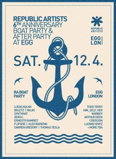 On Saturday April Republic Artists will be celebrating their year of organising quality events in some of London's much-loved venues. 6th Anniversary, Boat, Events, Artists, London, Organising, Music, Party, Birds