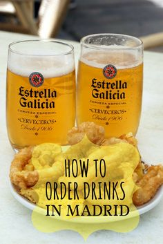 Ordering drinks in Madrid doesn't have to be complicated! Especially with this quick overview of what to order and how to order it!