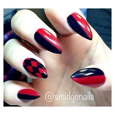 Harley Quinn Nails Liked On Polyvore Featuring Beauty Products Nail Care And Treatments