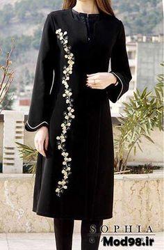 مدل مانتو مجلسی جدید 2019 Stylish Dresses For Girls, Stylish Dress Designs, Dresses Kids Girl, Casual Dresses, Abaya Fashion, Fashion Dresses, Iranian Women Fashion, Dress Indian Style, Pakistani Dresses