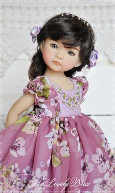 Dianna Effner Little Darling doll dress Сhiffon dress for little darling Dress with embroidery for d Pretty Dolls, Cute Dolls, Beautiful Dolls, Girl Doll Clothes, Girl Dolls, Little Girl Dresses, Flower Girl Dresses, Doll Fancy Dress, Reborn Babypuppen