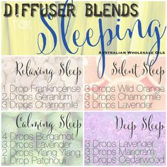 Diffuser blends for sleeping www.awo.com.au