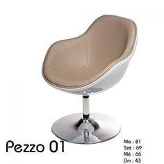 Pezzo klub fotel:      Kiváló minőségű anyagokból készült Pezzo szék.     Ülőfelülete műbőrből, váza és talpa krómozott acélból készült.     Ideális nappaliba, étkezőbe, klubokba és bárokba.  Méret:      Magasság : 81 cm     Szélesség: 69 cm     Mélység : 66 cm     Ülés magasság: 43 cm     Kartámasz magasság : 62 Egg Chair, Bauhaus, Lounge, Furniture, Home Decor, Airport Lounge, Decoration Home, Room Decor, Home Furnishings