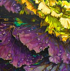 Bold Botanical Acrylic Paintings by Carol Sims