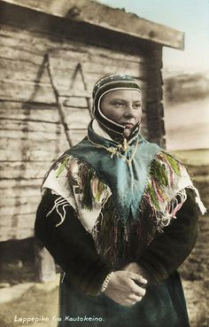 A Sami woman in Kautokeino Norway. Early 1900