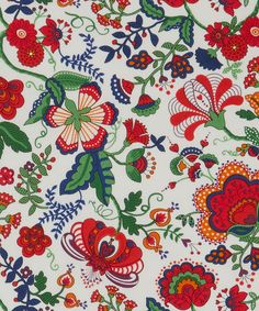 Liberty of London Tana Lawn: Mabelle Red (H) – DuckaDilly Indian Patterns, Textile Patterns, Flower Patterns, Print Patterns, Textiles, Liberty Art Fabrics, Liberty Print, Surface Pattern Design, Pattern Art