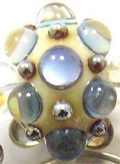 EDJ  Shimmering Ivory Handmade Glass Lampwork Beads by EDJlampwork, $24.00