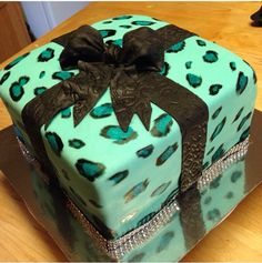 Birthday leopard print cake