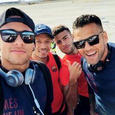 #Neymar #Adriano #Rafinha #Alves boys <3
