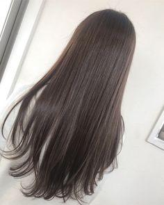Long Black Hair, Long Hair Cuts, Korean Hair Color, Curly Hair Styles, Natural Hair Styles, Ulzzang Hair, Hair Dye Colors, Lip Colors, Aesthetic Hair