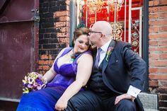 Laura & David's color-filled art gallery wedding via @Offbeat Bride