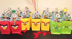 Favors at a Angry Birds Party #angrybirds #partyfavors
