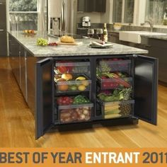 Great idea (if you have a huge kitchen)!! Cool mini fridge ideas separate for veggies