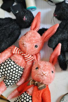 handmade stuffed animals by Jennifer Murphy